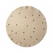 Ferm Living - Jute Teppich 130 cm | Black Dots