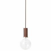 Ferm Living - Collect Pendant Lamp Low | Red-Brown