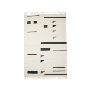 Ferm Living - Kelim Colour Triangles Rug 200 x 140 cm