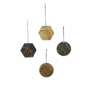 Ferm Living - Patina Messing Ornamente (4er Set)