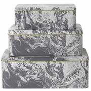 Ferm Living - Tin Boxes Marble (Set of 3)