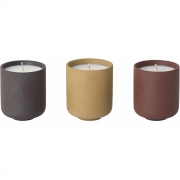 Ferm Living - Sekki Scented Soy Candles (Set of 3)