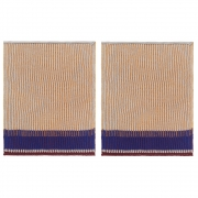 Ferm Living - Akin Knitted Dish Cloth (2er Set) Honey Gold