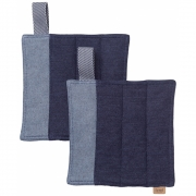 Ferm Living - Denim Topflappen (2'er Set)