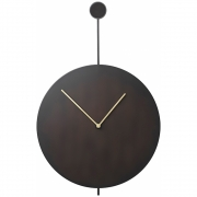 Ferm Living - Trace Wall Clock - Black/Brass