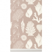 Ferm Living - Katie Scott Wallpaper - Shells - Dusty R