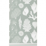 Ferm Living - Katie Scott Wallpaper - Shells - Aqua