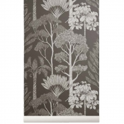 Ferm Living - Katie Scott Wallpaper - Trees - Brown Gr
