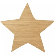 Ferm Living - Star Lamp - Oiled Oak