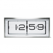 LEFF Amsterdam - Brick Desk / Wall Clock Steel White