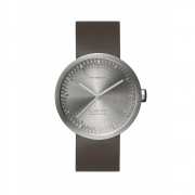 LEFF Amsterdam - Tube D42 Watch Stainless Steel | Brown