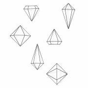 Umbra - Prisma Wanddekoration (6er Set)