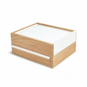 Umbra - Stowit Jewelry Box White/Natural