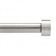 Umbra - Cappa Einzel-Gardinenstange Nickel | 91,4 - 182,9 cm