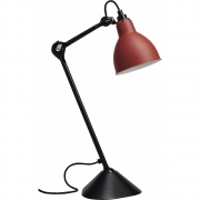 DCW - Lampe Gras N°205 Table Lamp - Black Frame Red | Round