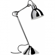 DCW - Lampe Gras N°205 Table Lamp - Chrome Frame