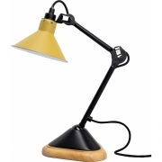 DCW - Lampe Gras N°207 Table Lamp - Black Frame, Conic