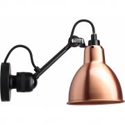 DCW - Lampe Gras N°304 Wandleuchte - Gestell Schwarz Kupfer | Rund