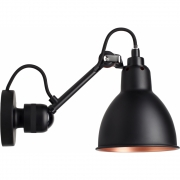 DCW - Lampe Gras N°304 Wall Lamp - Black Frame Black Copper | Round