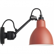 DCW - Lamp Gras N°304 SW Wall Lamp - Frame Black Red | Round