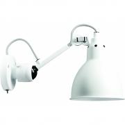 DCW - Lampe Gras N°304 SW Wandleuchte - Gestell Weiß Weiß | Rund