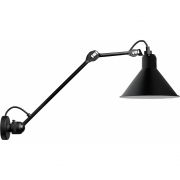 DCW - Lamp Gras N°304L40 Wall Lamp Black | Conic