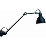 DCW - Lampe Gras N°304L40 Wall Lamp Black | Round