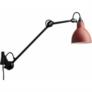 DCW - Lamp Gras N°222 Wall Lamp - Black Frame Red | Round