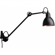 DCW - Lampe Gras N°222 Wall Lamp - Black Frame Black Copper | Round