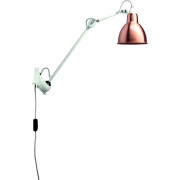 DCW - Lampe Gras N°222 Wall Lamp - White Frame