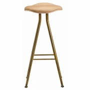 Norr11 - Barfly Barstool Brass - Leather