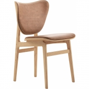 Norr11 - Elephant Dining Chair Natural Frame, Leather