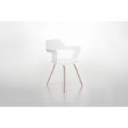 Radius - Muse Stuhl Weiß / Holz