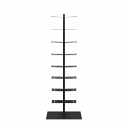 Radius - Booksbaum Bookcase freestandig Double | Black | 170cm