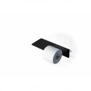 Radius - Puro Toilettenpapierrollenhalter Schwarz | Wandmontage