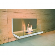 Radius - Wall Flame 1 Ethanol Kamin Weiß/Matt