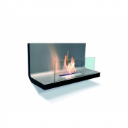 Radius - Wall Flame 1 Ethanol Fireplace