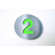 Radius - Letterman House Number Green | 2