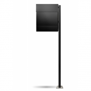 Radius - Letterman5 Mailbox incl. Standing Post Black