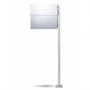 Radius - LettermanXXL2 Mailbox incl. Standing Post White