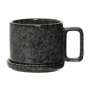 Bloomingville - Noir Mug with Saucer