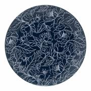 Bloomingville - Fleur Plate Teller Blau