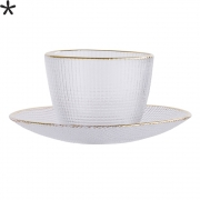 Bloomingville - Cup with Saucer Clear