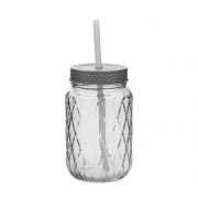 Bloomingville - Bottle with Lid & Straw