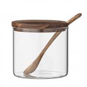 Bloomingville - Jar with Lid & Spoon Set