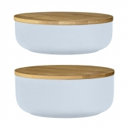 Bloomingville - Bowl with Bamboo Lid Set