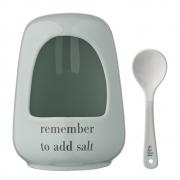 Bloomingville - Salt Jar with Spoon
