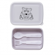 Bloomingville - Lunchbox with Cutlery Purple