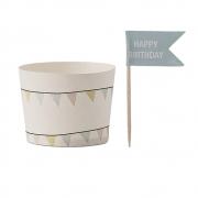 Bloomingville - Paper Muffin Cup Muffinförmchen mit Fähnchen Set