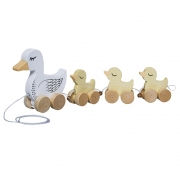 Bloomingville - Pull Along Duck Family Ziehtier
